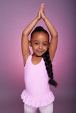 Cute little African American girl dancing Stock Photos