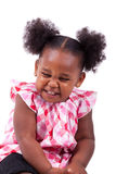 Cute little african american girl laughing Royalty Free Stock Photos