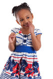 Cute little african american girl with a lollipop Stock Photos