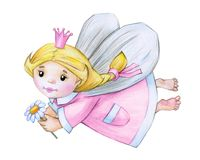 Cute little angel cartoon. Cute little angel  cartoon  isolated, hand drawing Stock Images