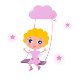 Cute little angel child Stock Photography