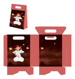 A cute little angel. Handbag packages pattern Stock Photos