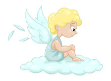 Cute little angel. Cute  little angel, vector illustration Stock Photo