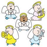 Cute little angels 2009 B. Illustration of cute little angel choir Royalty Free Stock Image