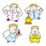 Cute little angels 2009 C. Stilized illustration of little angels celebrating christmas Royalty Free Stock Photos