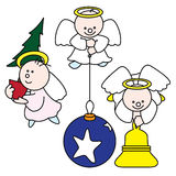 Cute little angels d Royalty Free Stock Photo