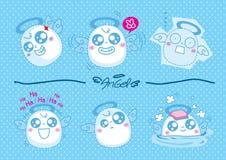 Cute little Angels, vector illustration Stock Photo