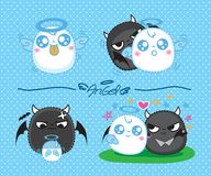 Cute little Angels, vector illustration Royalty Free Stock Images