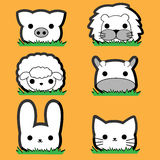 Cute little Animal Set Royalty Free Stock Images