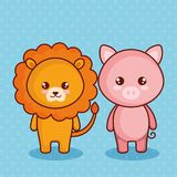 Cute and little animals characters. Vector illustration design Stock Images