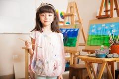 Cute little artist at school Stock Photography