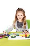 Cute little artist Royalty Free Stock Photos