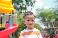 Free Cute Little Asian 2 - 3 Years Old Toddler Boy Child Sweating During Having Fun Playing, Exercising Outdoor At Playground, Heat Royalty Free Stock Images - 167654649