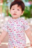 Cute little Asian boy Happy smilling in the park outdoors , Happy kids.  stock images