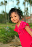 Cute little asian girl smiling Stock Images