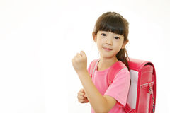 Cute little Asian girl smiling royalty free stock photo