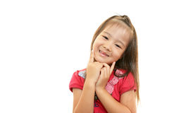Cute little Asian girl smiling Royalty Free Stock Photos