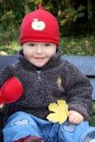 Cute little autum girl Royalty Free Stock Photo