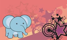 Cute little baby elephant cartoon background. Cute little baby animal cartoon background in vector format Royalty Free Stock Images