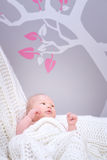 Cute little baby in bedroom Royalty Free Stock Photo