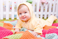 Cute little baby on blanket Royalty Free Stock Photo