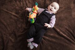 Cute little baby boy Stock Images