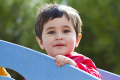 Cute little baby boy playing at park Stock Images