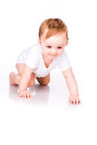 Cute little baby crawling Royalty Free Stock Image