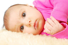 Cute little baby face. Royalty Free Stock Photography