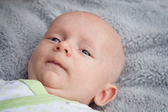 Cute Little Baby Face Stock Image