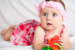 Cute little baby girl Stock Photography