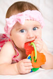 Cute little baby girl. Portrait Stock Photography