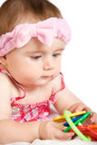 Cute little baby girl Royalty Free Stock Image