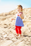 Cute little baby girl on the beach Royalty Free Stock Photo