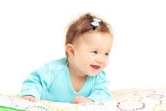 Cute little baby girl smiling Stock Photo