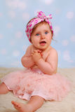 Cute little baby girl in tutu Royalty Free Stock Image