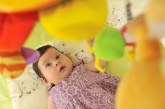 Cute little baby indoor Royalty Free Stock Images