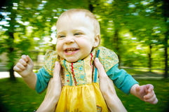 Cute little baby in mother hands Royalty Free Stock Photography