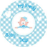 Cute little baby pattern Stock Photos