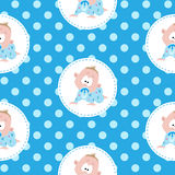 Cute little baby seamless pattern Stock Image
