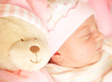 Cute little baby sleeping Royalty Free Stock Photography