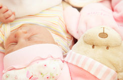 Cute little baby sleeping Stock Image