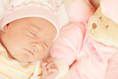 Cute little baby sleeping Stock Images