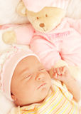 Cute little baby sleeping Royalty Free Stock Photos