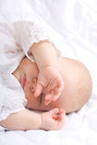 Cute little baby sleeping Royalty Free Stock Images