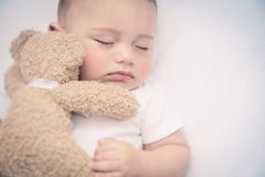 Free Cute Little Baby Sleeping Stock Photography - 99018332