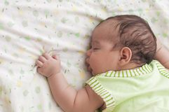 Cute Sleeping Baby stock images