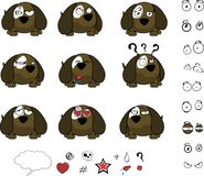 Cute Little ball puppy cartoon expressions set. Cute baby ball puppy cartoon expressions set in vector format very easy to edit Stock Photo