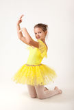 Cute little ballerina exercising Stock Photo