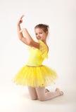 Cute little ballerina exercising Stock Photo